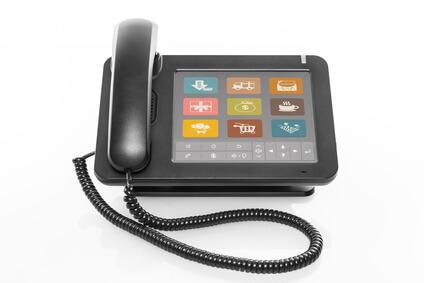 Telefon mit Touchscreen © Matthias Buehner